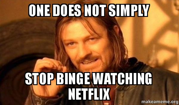 Netflix binge watch meme